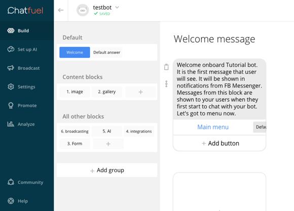 Chatfuel là một chatbot khá phổ biến và hiệu quả