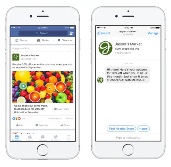 Khi khách hàng nhấp vào quảng cáo tin nhắn facebook sẽ được chuyển vô Messenger